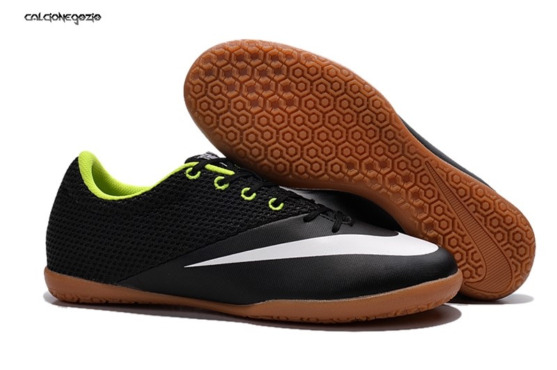 Nike MercurialX Pro IC Nero Bianco Marrone Scontate